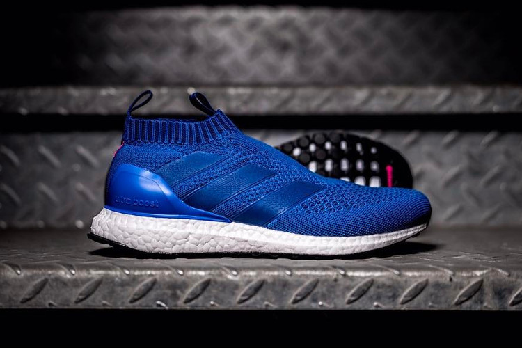 outlet store d7161 f1b53 adidass ACE 16+ PureControl UltraBOOST Returns in a Striking Blue Colorway