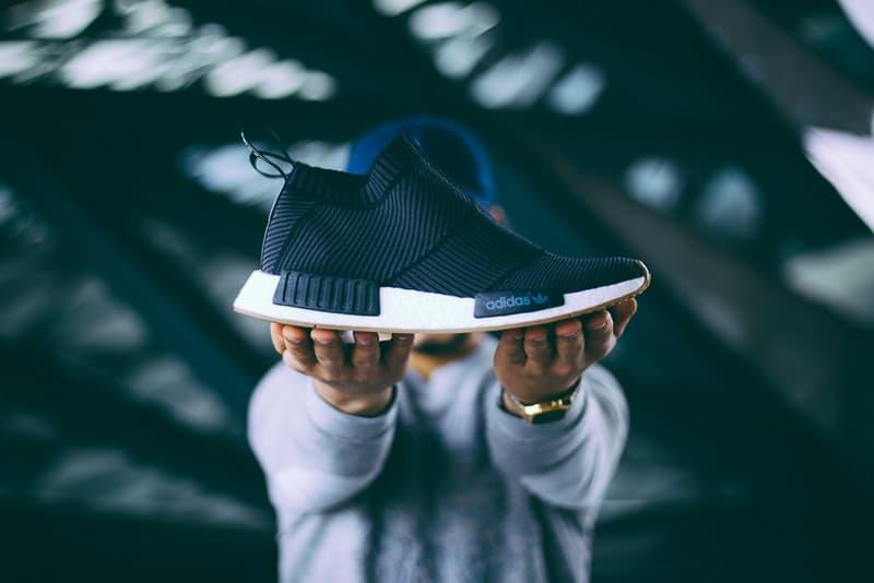 adidas Originals NMD City Sock Gum Sole Black White