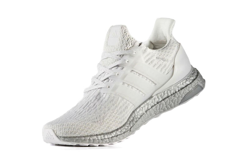 adidas ultra boost white sneaker silver sole