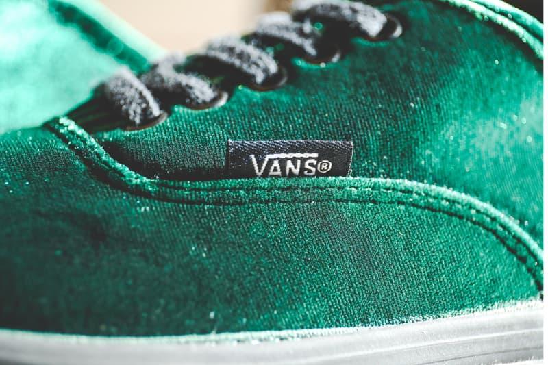 BILLY'S TOKYO Velvet Green Vans Authentic