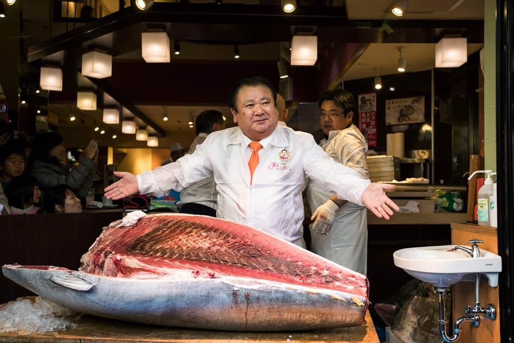 Bluefin Tuna Auction 632000 Dollars Tsujiki Fish Market Kiyomura Corp
