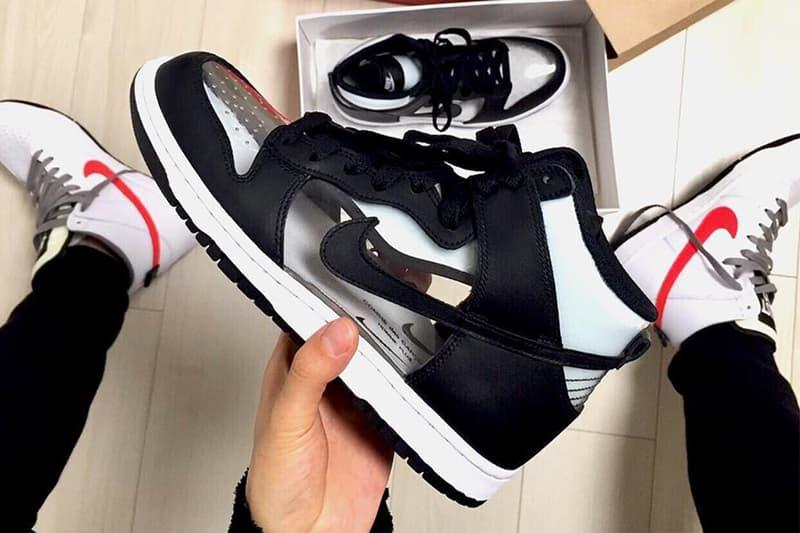"""COMME des GARÇONS x Nike Dunk High """"Clear"""""""