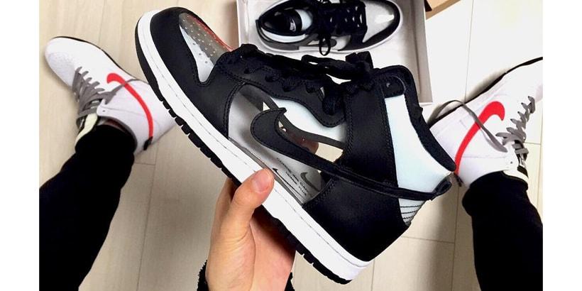 best website 2bd94 2cfc9 COMME des GARÇONS x Nike Dunk High