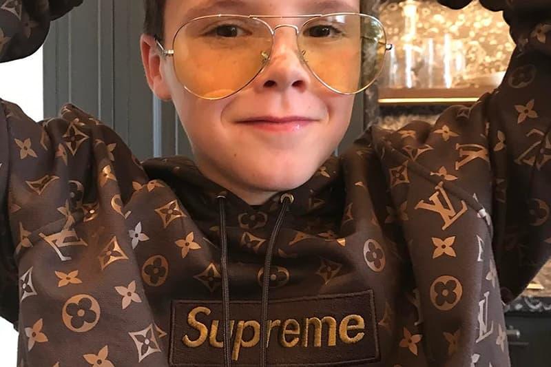 Cruz Beckham Supreme x Louis Vuitton Hoodie