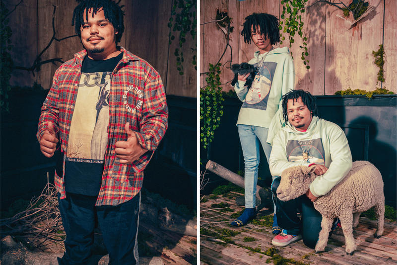 Des Milliards 2017 Spring/Summer Collection Lookbook Luka Sabbat and Baby Sheep