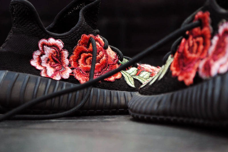 Flowerbomb YEEZY BOOST 350 V2 Custom Gucci Ace Embroidered