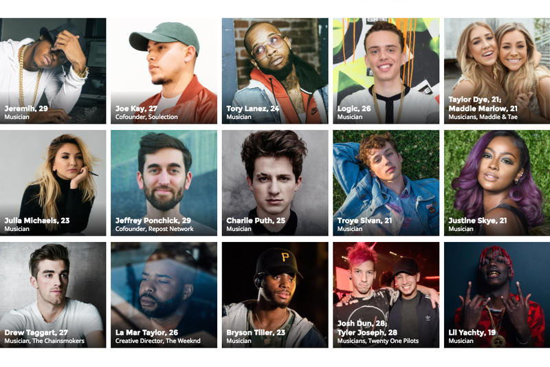 Forbes 30 Under 30 Music 2017
