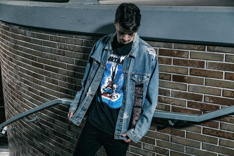 Luke Vicious 2017 Spring Summer Collection Hand Painted Bomber Jean Jacket T-Shirt