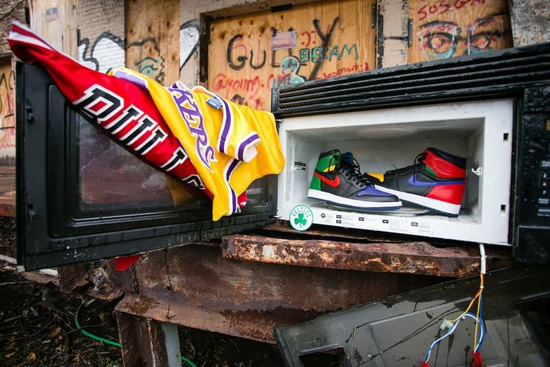 """Malcolm Garret Air Jordan 1 """"What the Legend"""" Custom"""