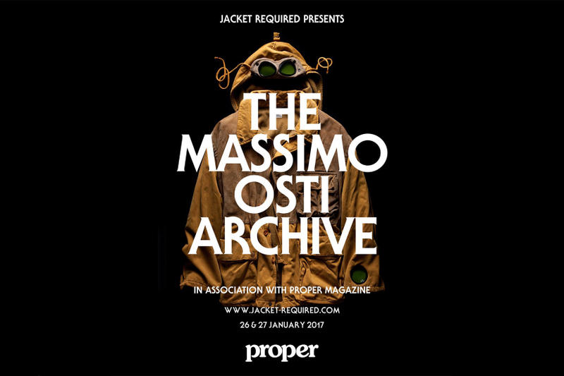 Massimo Osti Archive London Proper Magazine Jacket Required
