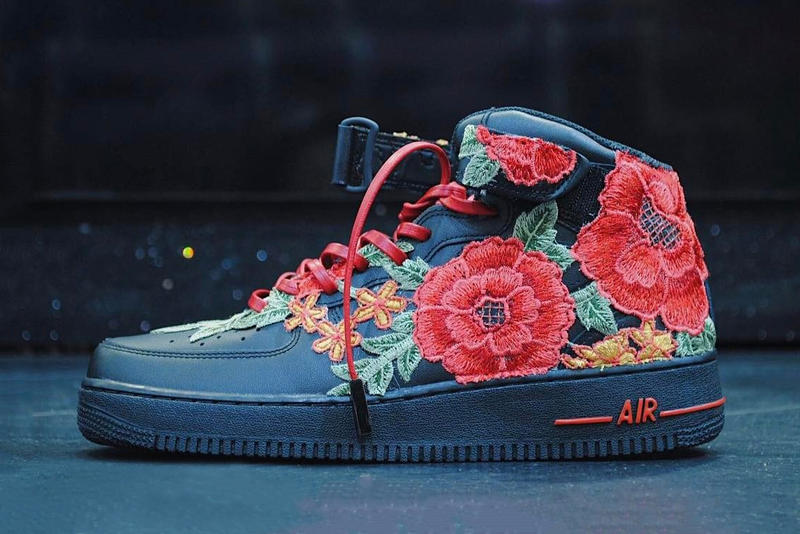 Nike Air Force 1 Flowerbomb FRE Customs