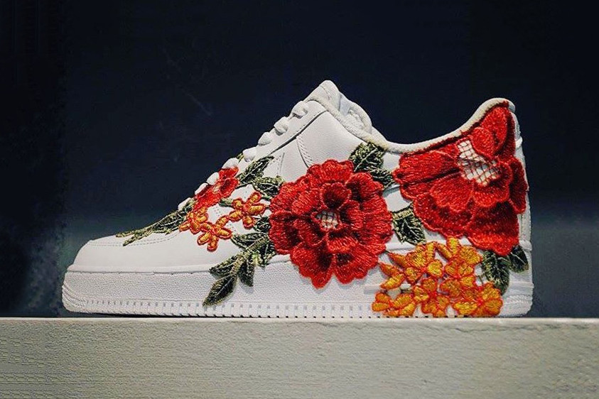 Nike Air Force 1 Flowerbomb With Flower Embroidery Gucci Ace