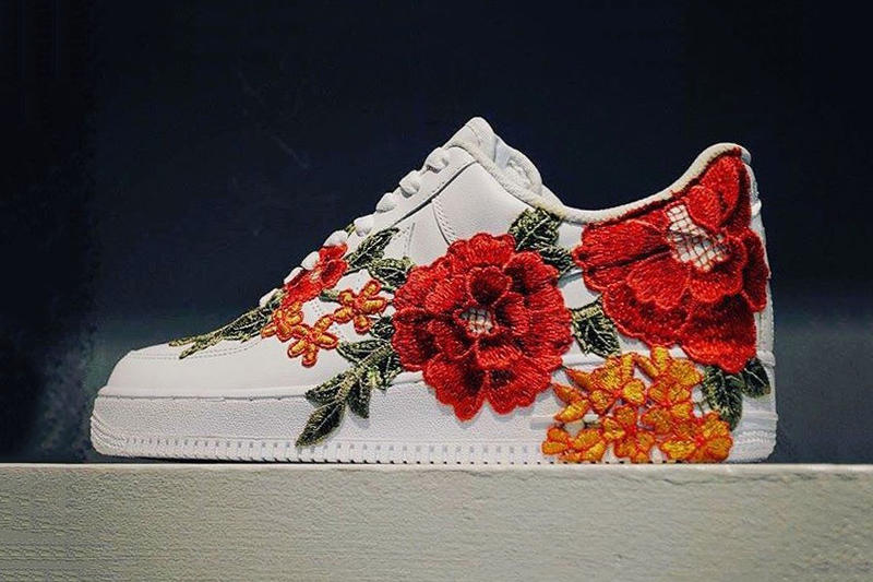 A Gucci Ace Inspired Nike Air Force 1 With Flower Embroidery Surfaces Online 6318bb74c