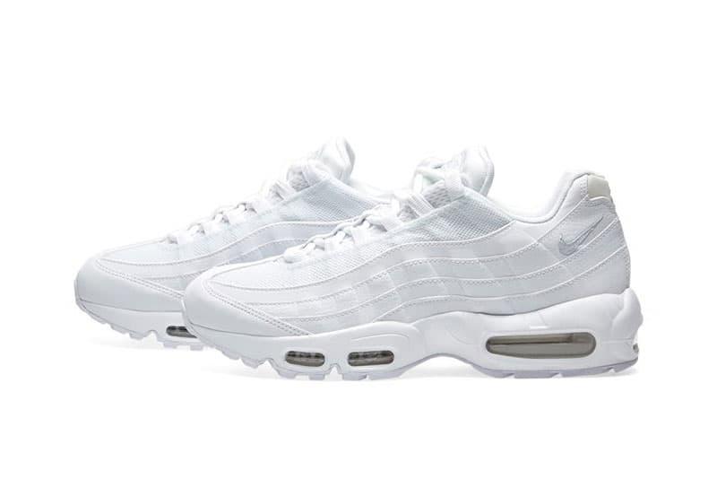 low priced 6b080 93406 Nike Air Max 95 Triple White Sneaker | HYPEBEAST