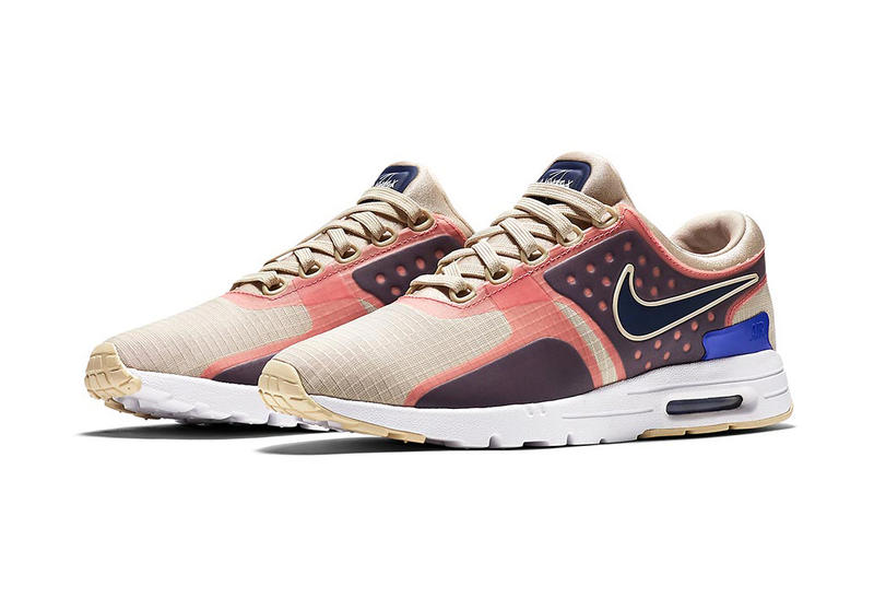 sports shoes 7e41f 90742 Nike Air Max Zero Women s Pink and Tan Colorway