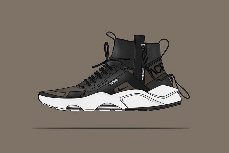 brand new f37cb 2d472 NikeLab ACRONYM Huarache Mid Concept Shoe | HYPEBEAST