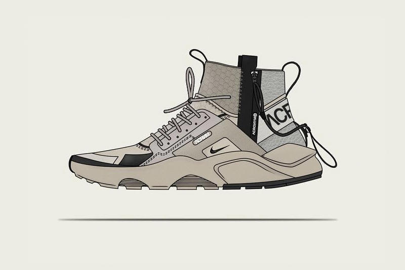 NikeLab ACRONYM Huarache Mid Concept Shoe
