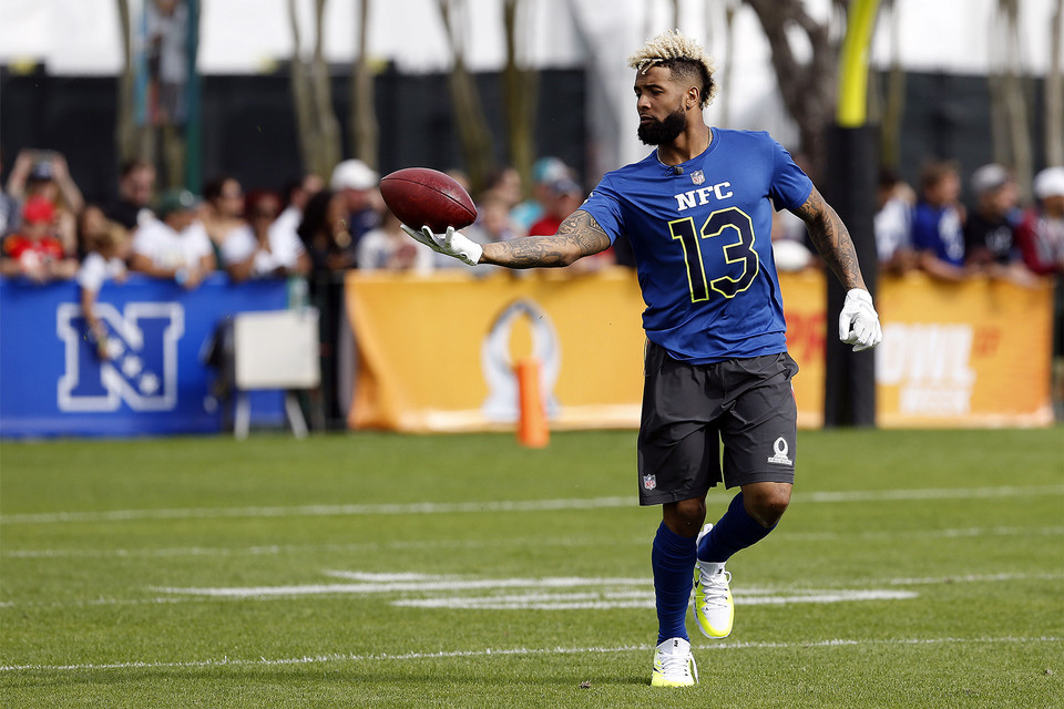 low priced 653b9 f8eaa Odell Beckham Jr. s Custom Supreme x Louis Vuitton x Nike Cleats for the  Pro Bowl   HYPEBEAST