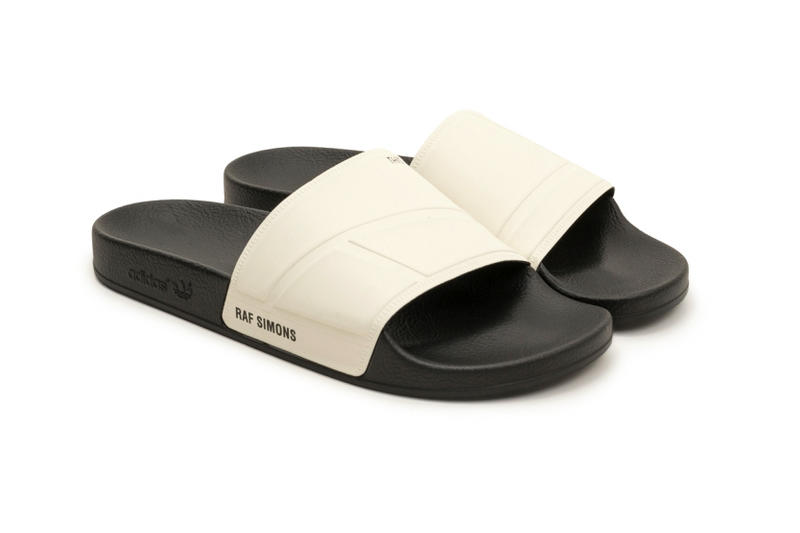 Raf Simons x adidas 2017 Adilette cream white black
