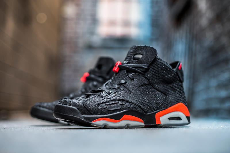 9fa2262921de3d The Shoe Surgeon Creates Custom Python Air Jordan 6 Infrared