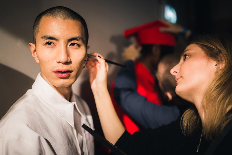Xander Zhou Backstage LFWM 2017