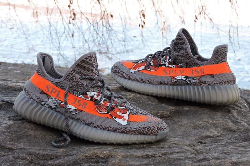 fa5e9464a YEEZY BOOST 350 V2 Beluga Koi Custom adidas Originals Kanye West
