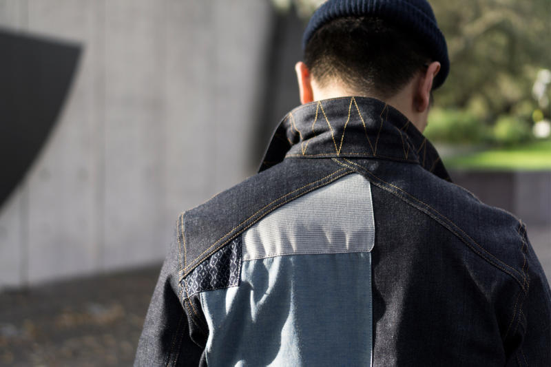 3sixteen x The Class Room Custom Patchwork Type 3s Denim Jacket