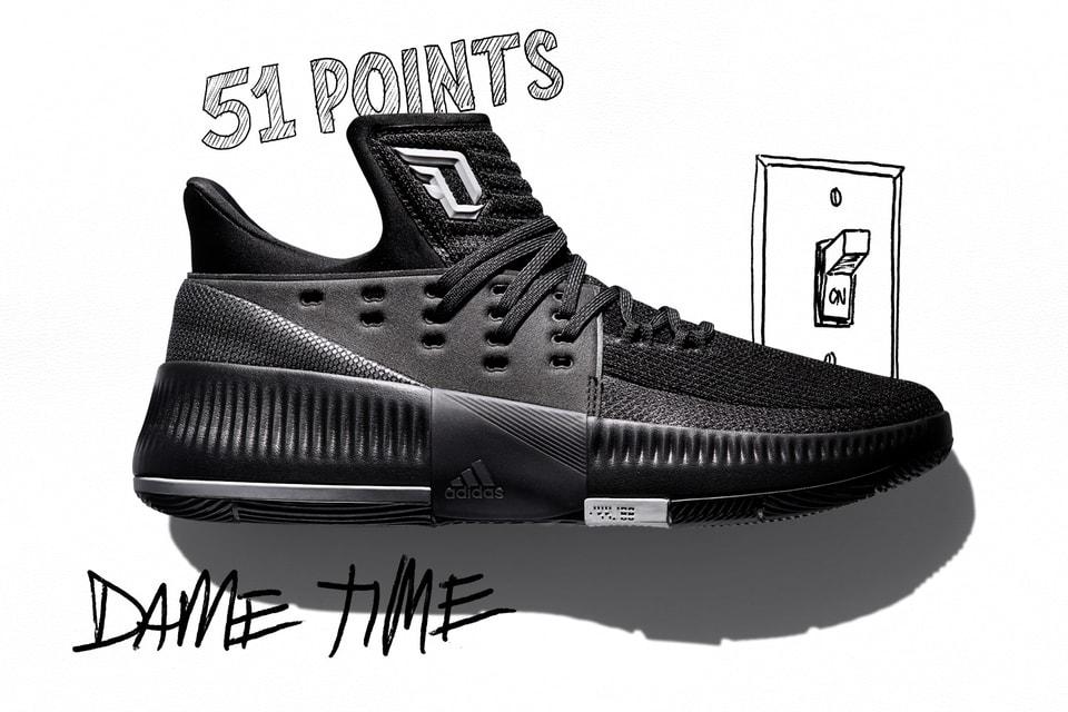 pretty nice fc370 8e5a2 adidas Celebrates Damian Lillards Elite Scoring Ability via New Dame 3