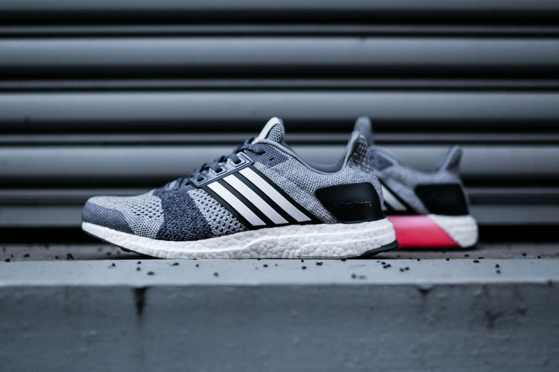 purchase cheap 0ea3f 0887c adidas Ultra BOOST ST Grey Navy Pink