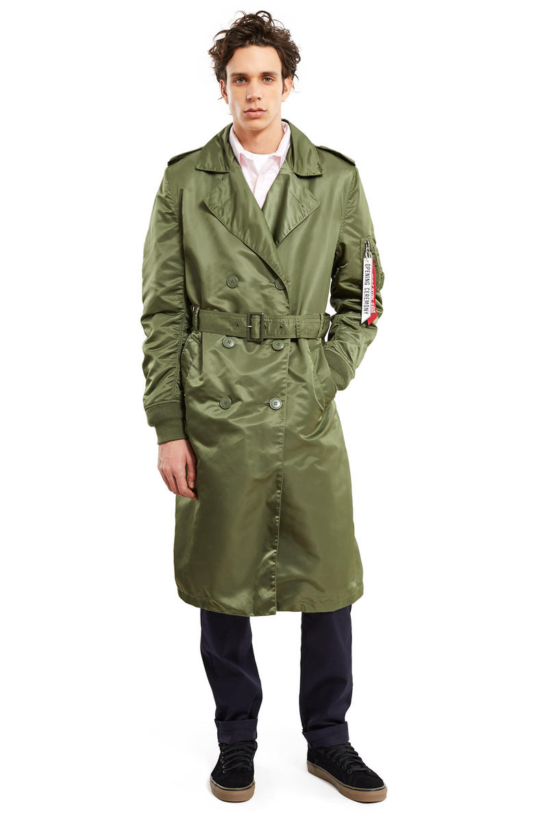 Alpha Industries x Opening Ceremony Spring 2017 MA-1 Jacket Trench Coat