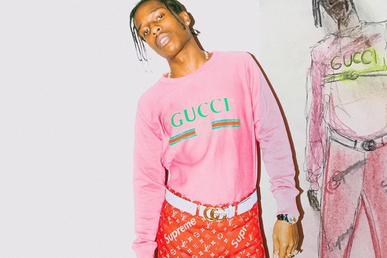 Asap Rocky In Supreme X Louis Vuitton Unreleased Pants Hypebeast