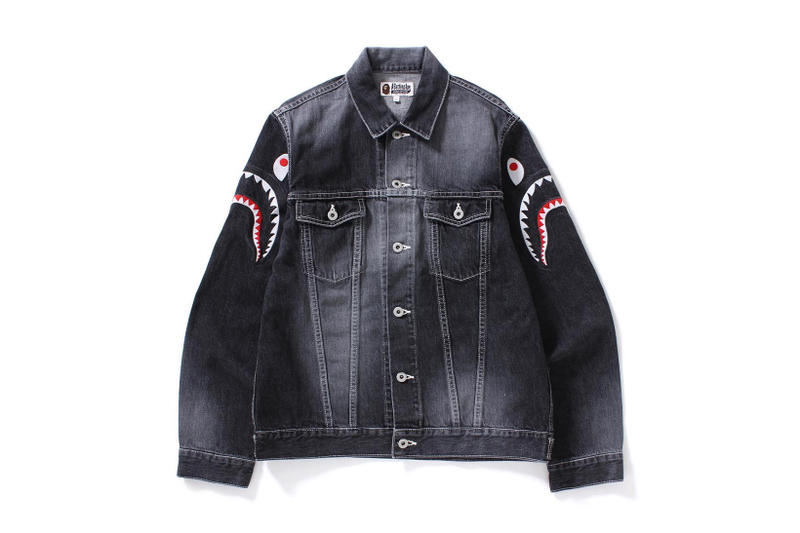 A Bathing Ape BAPE Shark Denim Trucker Jacket