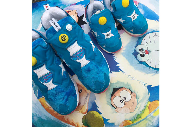 Doraemon x atmos x Packer Shoes x Reebok Instapump Fury