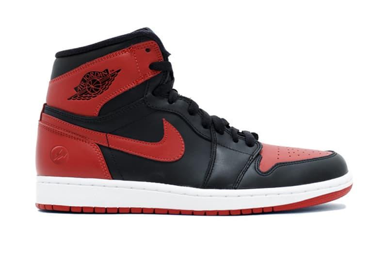 "fragment design x Air Jordan 1 ""Bred"" Leak"
