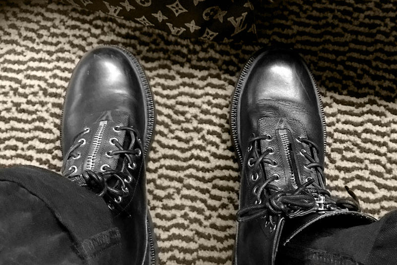 7531f63a2db A First Look at the fragment design x Louis Vuitton Boots. Courtesy of Mr. Kim  Jones.