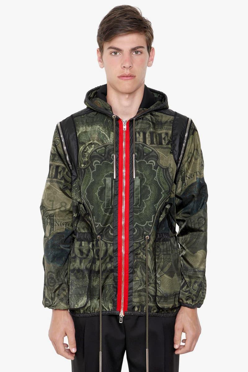 Givenchy's Camo Dollar Print Techno Satin Jacket