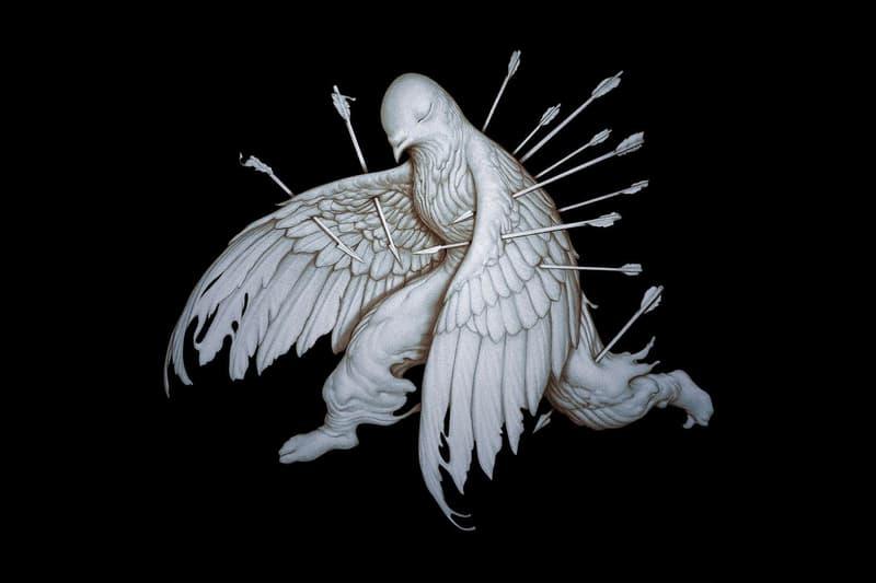 James Jean Washizu Staple Pigeon Sculpture