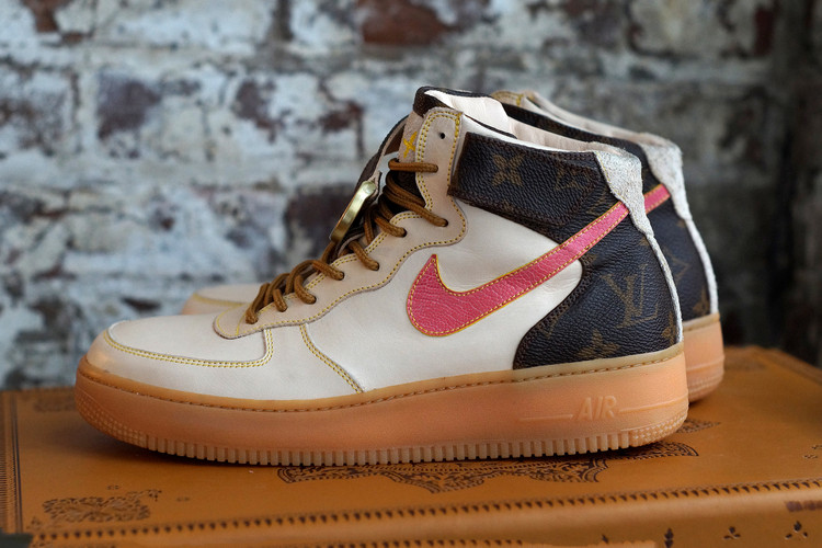 5d72ccc39c2 Louis Vuitton's Heritage Style Gets Injected Into a Pair of AF1s