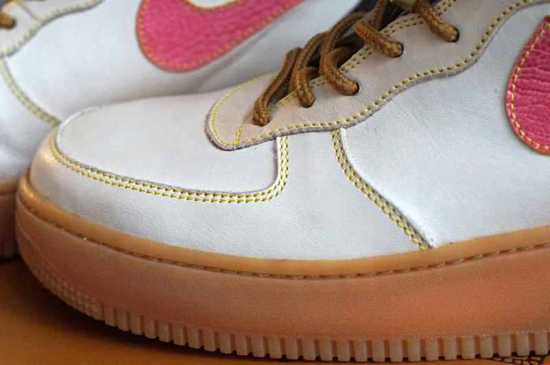 JBF Customs Louis Vuitton x Nike Air Force 1 Heritage Leather Ostrich Swoosh