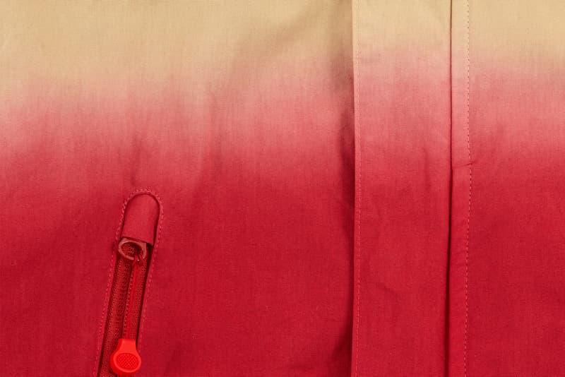 JohnUNDERCOVER Dip-Dye Hooded Jacket in Red