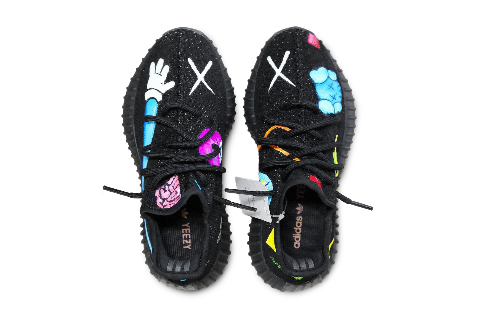 KAWS x Yeezy BOOST 350 Hand-painted