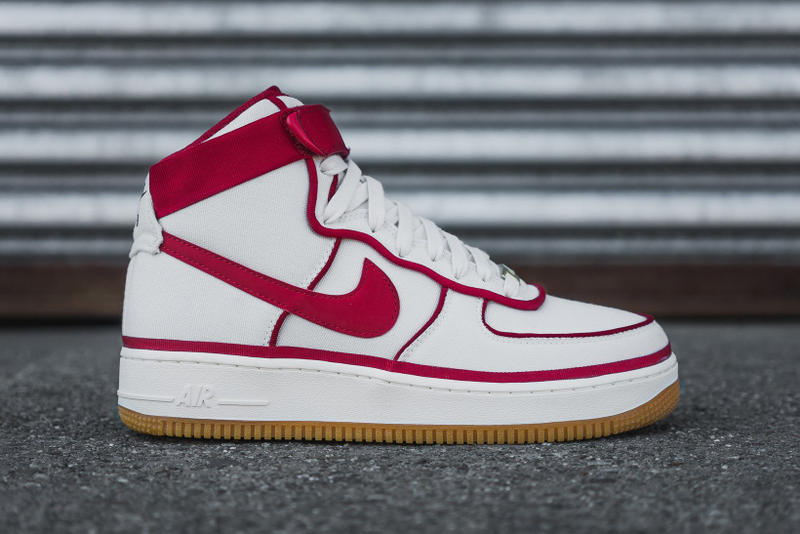 Nike Air Force 1 High 07 LV8 Sail Gym Red Black