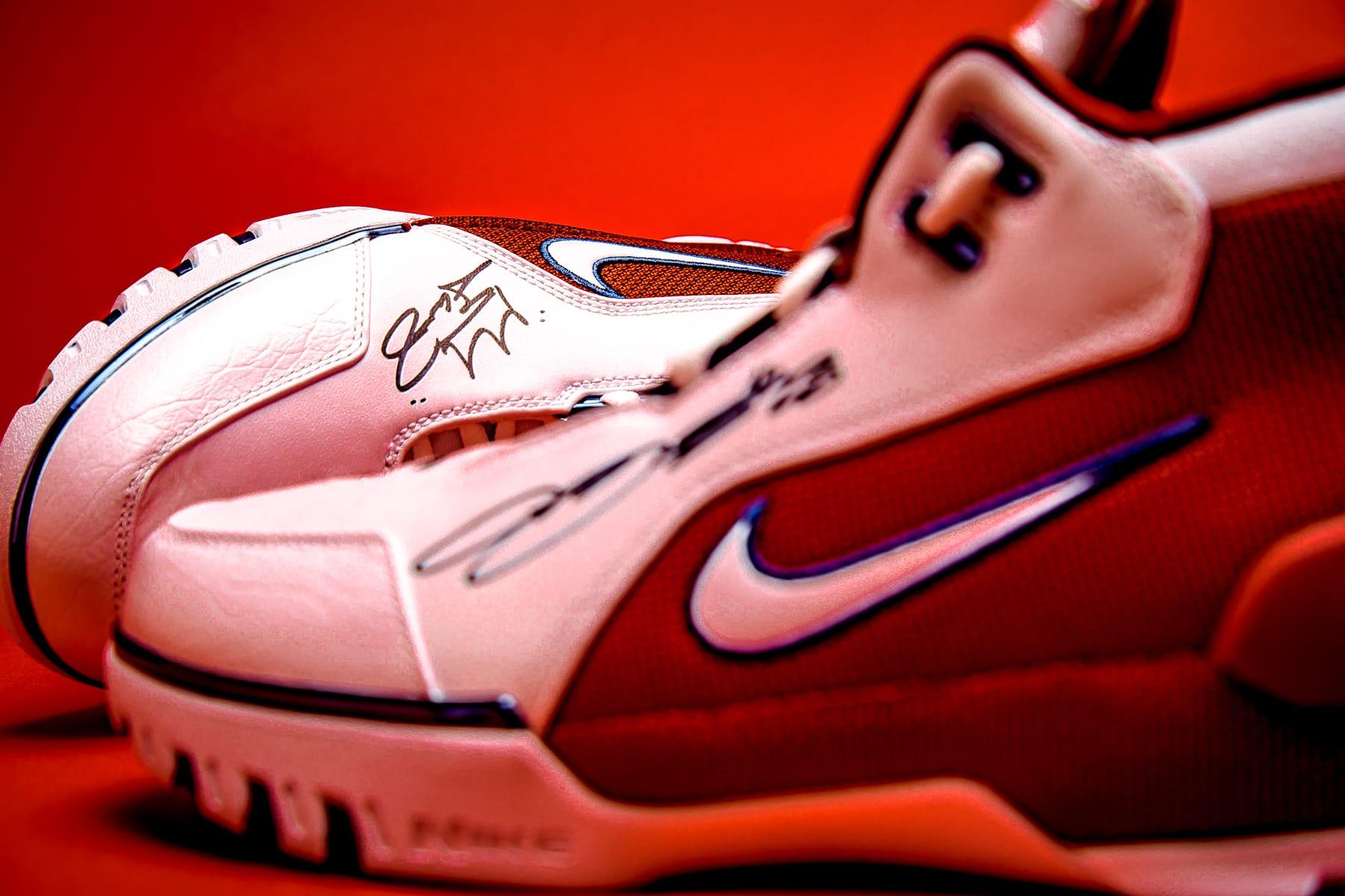 lebron autographed shoes