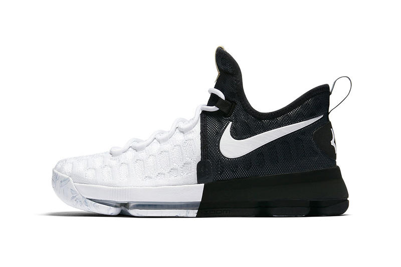 5dbd7c778009 Nike KD 9 BHM Black White Closer Look