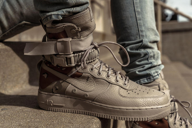 best website 44f7e 397a1 Nike SF-AF1 Special Field Air Force 1 Desert Camo and Dust Closer Looks
