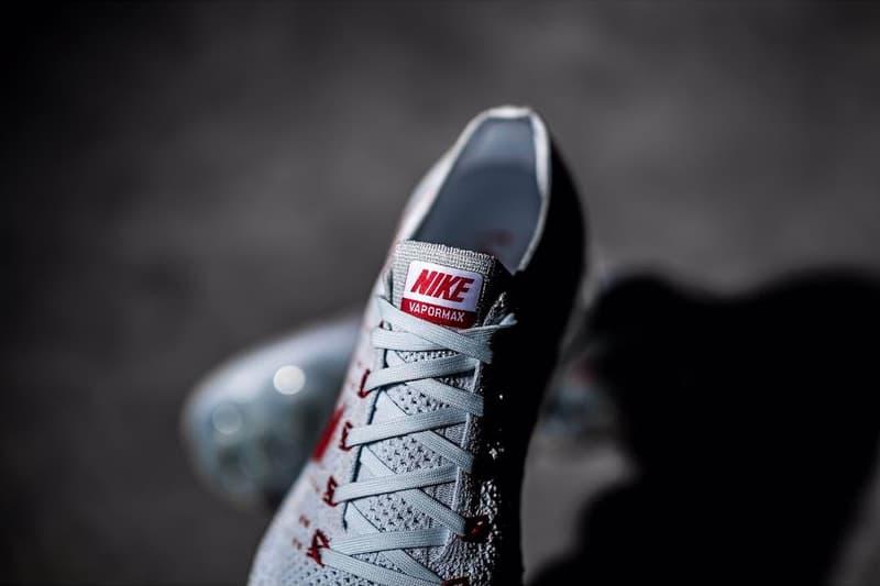 Nike VaporMax light grey red