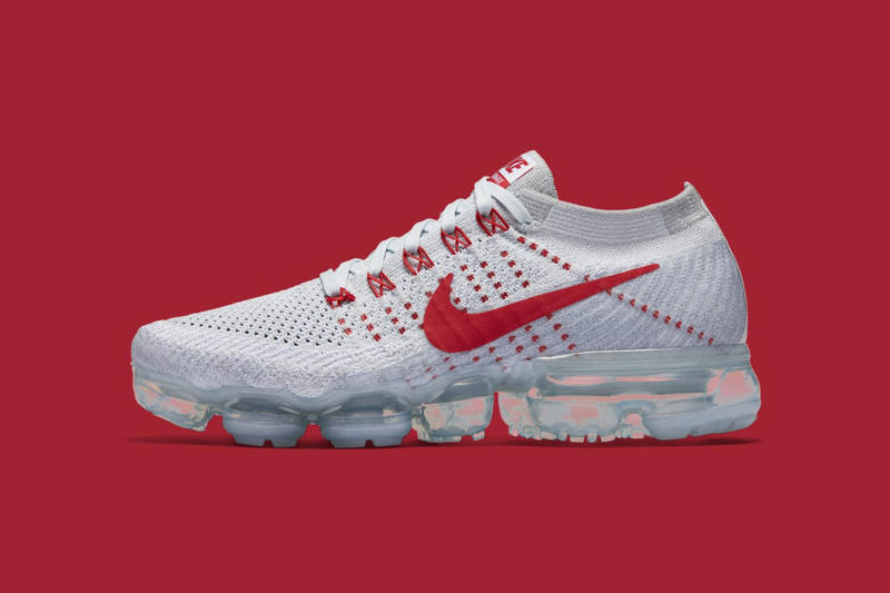 3bf9aeee8e79 Nike VaporMax Pure Platinum University Red-Wolf Grey Release Info ...
