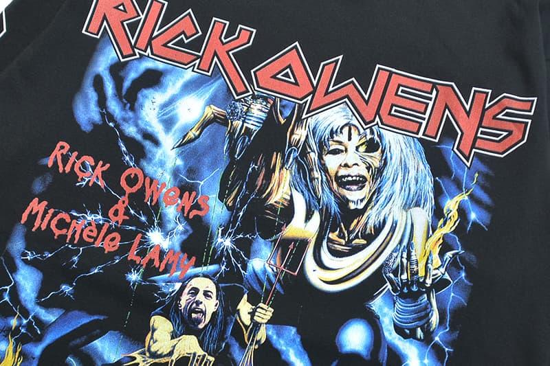 Non Trouve Rick Owens Tour Merchandise Update