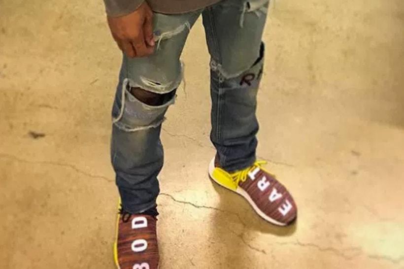 c6764d310 Pharrell Williams Debuts New Multicolor adidas Originals Hu NMDs ...