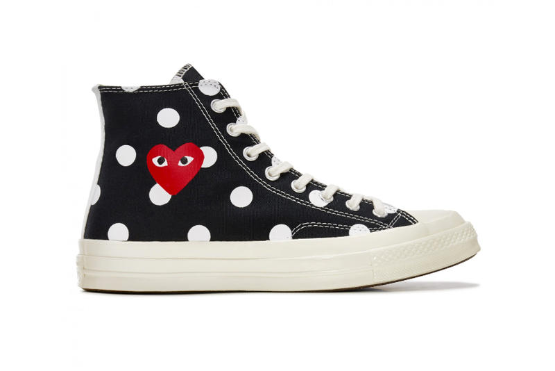 1ba8fcdfd762e9 COMME des GARÇONS PLAY Updates the Converse Chuck Taylor All Star  70 With  Polka Dots